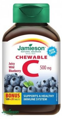 J - Vitamín C Čučoriedka120tbl.