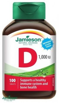 J - Vitamín D3 1000 IU 100tbl.