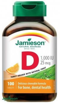 J - Vitamín D3 1000 IU POMARANČ 100tbl. cmúľ.