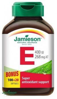 J - Vitamín E 400IU 100+20cps BONUS