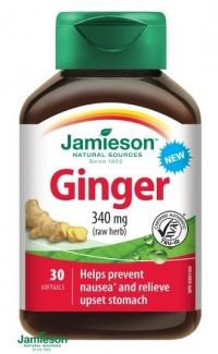 Jamieson Ginger Zázvor 340 mg 30 softgel caps.