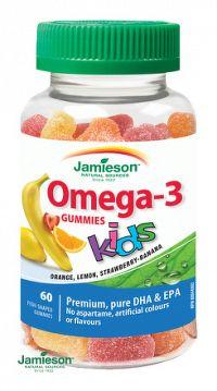Jamieson Omega-3 Kids Gummies želatínové pastilky pre deti 60ks