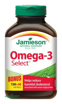 JAMIESON OMEGA-3 SELECT 1000 mg cps 1x200 ks