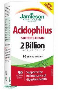 Jamieson Super Strain Acidophilus komplex bakteriálnych kultúr 90 cps.