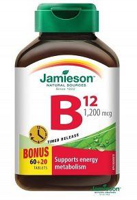 JAMIESON VITAMÍN B12 tbl 1200 µg 1x80 ks