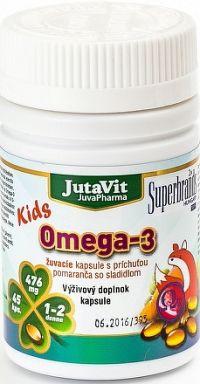 JutaVit Omega-3 Kids žuvacie kapsuly s príchuťou pomaranča 1x45 ks