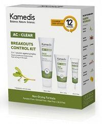 KAMEDIS AC-CLEAR KIT na mastnú pokožku: krém na tvár 50ml+čistiaci gél na tvár 100ml+gél na lok.ošet
