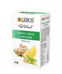 LEROS Vital Zázvor s lipou a citrónom bylinný čaj 20x2 g
