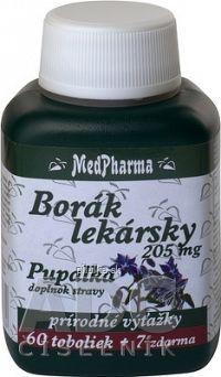 MedPharma BORÁK LEKÁRSKY 205 mg + PUPALKA cps 60+7 zadarmo