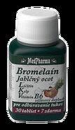 MedPharma BROMELAIN 300 mg + JABL.OCOT + LECITIN tbl 30+7 zadarmo