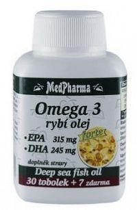 MedPharma OMEGA 3 rybí olej forte - EPA DHA cps 30+7 zadarmo