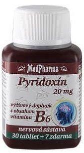 MedPharma PYRIDOXÍN 20 mg tbl 30+7 zadarmo