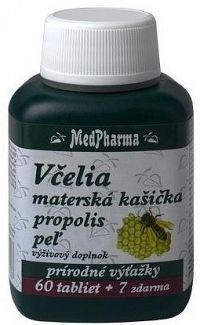 MedPharma VČELIA MAT. KAŠIČKA + PROPOLIS + PEĽ tbl 60+7 zadarmo