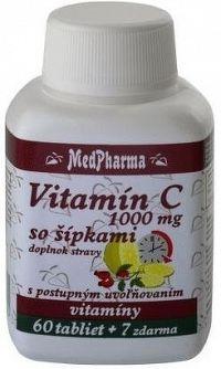 MedPharma VITAMÍN C 1000 MG so šípkami tbl60+7 zadarmo