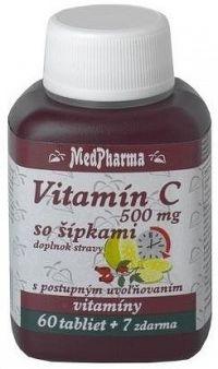 MedPharma VITAMÍN C 500MG so šípkami tbl60+7 zadarmo