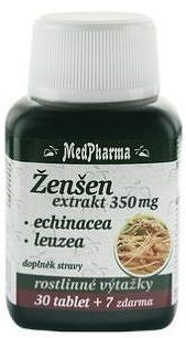 MedPharma ŽENŠEN 350 mg + Echinacea + Leuzea tbl 30+7 zadarmo