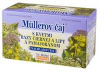 Müllerov čaj S KVETMI BAZY LIPY A PAMAJORANOM bylinný čaj 20x1 5 g