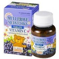 MÜLLEROVE medvedíky - vitamín C tbl s príchuťou čiernych ríbezlí 1x45 ks