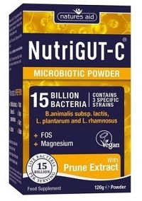 Natures Aid NUTRIGUT C 15 miliárd baktérii naIBS a zápchy 120 g.