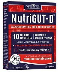 Natures Aid NUTRIGUT D 10 miliárd baktérii na IBS a kruté hnačky 30 cps.