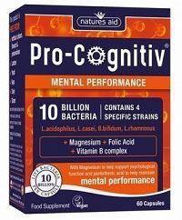 Natures Aid PRO-COGNITIV 10 miliárd baktérii na podporu mozgových funkcií 60 cps.