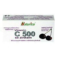 Naturica VITAMÍN C 500 mg so zinkom tbl 1x30 ks