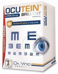 OCUTEIN BRILLANT Luteín 25 mg - DA VINCI cps 60 ks + očné kvapky OCUTEIN Sensitive 15 ml zadarmo, 1x