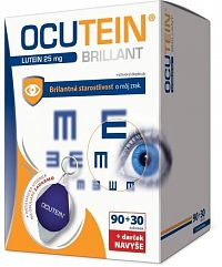 OCUTEIN BRILLANT Luteín 25 mg - DA VINCI cps 90+30 navyše+ darček 1x1 set