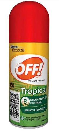 OFF! TROPICAL sprej rýchloschnúci repelent 1x100 ml