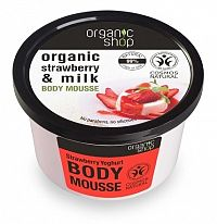 Organic Shop - Jahoda & Jogurt - Telová pena