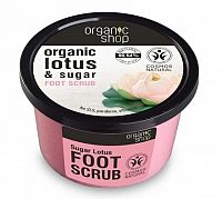 Organic Shop - Lotos a Cukor - Peeling na nohy