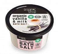 Organic Shop - Vanilka a mlieko - Soľ do kúpeľa