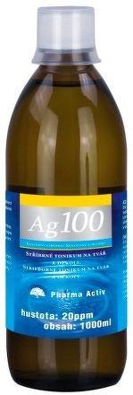 Pharma Activ Koloidné striebro Ag100 hustota 20 ppm, 1x1000 ml