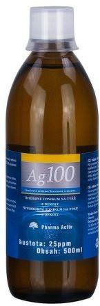Pharma Activ Koloidné striebro Ag100 hustota 25 ppm, 1x500 ml