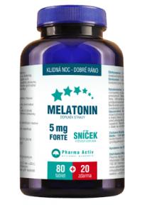 Pharma Activ Melatonín Sníček 5 mg FORTE tbl 80+20 zdarma