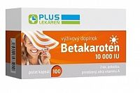 PLUS LEKÁREŇ Betakarotén 10 000 IU cps 1x100 ks