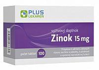 PLUS LEKÁREŇ Zinok 15mg tbl 1x100 ks