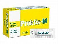 PROKTIS-M rektálne čapíky na hojenie rán s obsahom kyseliny hyalurónovej 1x10 ks