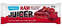 RAW JUICER Beetroot & red currant tyčinka s červenou repou a morušou, s ríbezľovou náplňou 1x45 g