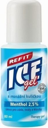 REFIT ICE GEL MENTHOL ROLL ON 1x80 ml