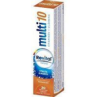 Revital multi 10 vitamínov + vláknina šumivý tbl eff s príchuťou pomaranč 1x20 ks