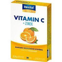 Revital Vitamín C+Zinok tbl s príchuťou pomarančov 1x30 ks