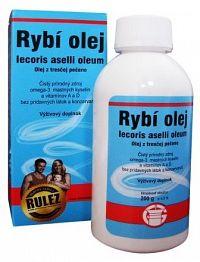 Rybí olej, Olej z tresčej pečene iecoris aselli oleum, 1x200 g