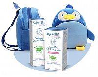 SAFORELLE Bébé balíček pre deti krémové mlieko 125 ml + jemný čistiaci gél 125 ml + detský ruksačik