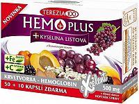 TEREZIA HEMOPLUS + KYSELINA LISTOVÁ cps 50+10 zadarmo