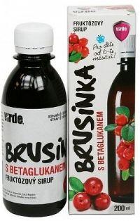 VIRDE BRUSNICA S BETAGLUKÁNOM fruktózový sirup 1x200 ml