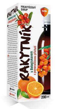 VIRDE RAKYTNÍK SIRUP s betaglukánom, pomarančová príchuť 1x200 ml