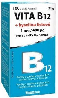 Vitabalans VITA B12 + kyselina listová pastilky 1x100 ks