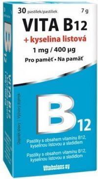Vitabalans VITA B12 + kyselina listová pastilky 1x30 ks