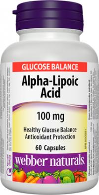 Webber naturals Alpha-Lipoic Acid 100 mg 60cps.